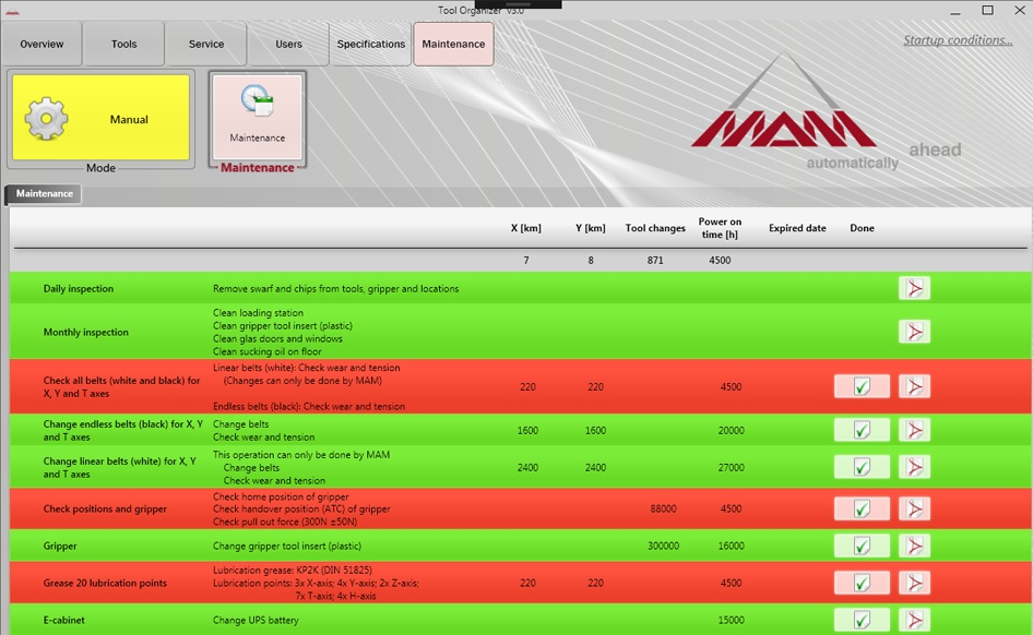 Tool Organizer Maintenance Software
